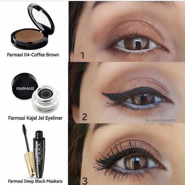 ✨Farmasi Cashmere Far 04- Coffee Brown ✨Farmasi Kajal Jel Eyeliner ✨Farmasi Deep Black Maskara ✨Farmasi Beyaz Göz Kalemi ve Kajal Eyeliner karışımı (Göz içine)  Sipariş vermek ve fiyat bilgisi için . #eyesmakeup #makeuplove #eyes #beautyblogger #instagood #makyajaşktir #instalike #turkbloggerlartakiplesiyor #instagram #bloggerturkiye #makyaj #makeupfashion #bloggerswanted #makyajgalerisi #bloggerstyle #beautyblogger #makeupworld #followforfollow #konumakyajsa #beautymakeup #makeupbyme…