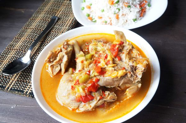 spicy_ chicken _ pepper - soup - sinus - clear - hard - tough - african - recipe - rice - peas - carrot - spicy - hot - pot - ginger - gralic - ata rodo