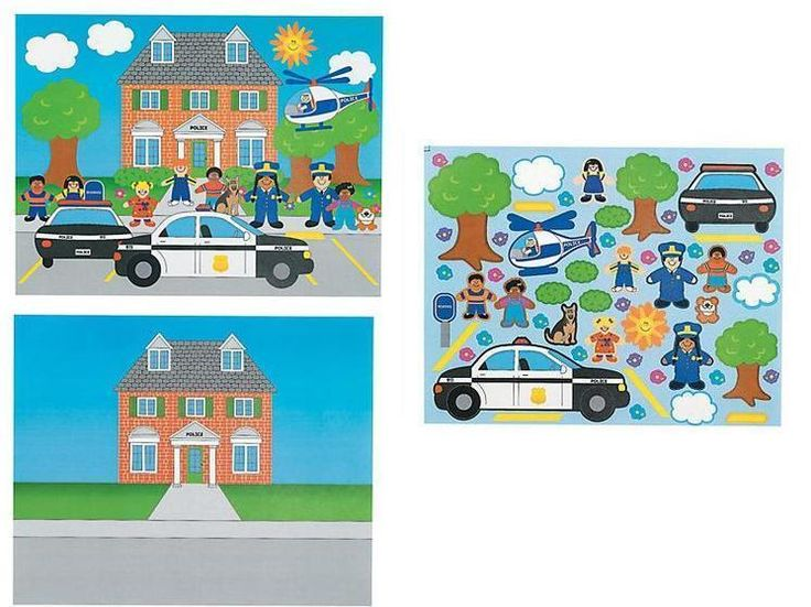Police Career Sticker Scene 12 Count  #OrientalTrading