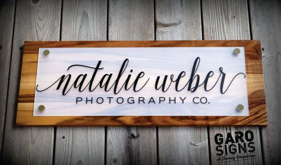 GaroSigns custom Business Store Front Sign with your business logo shown in Sapwood. Here at Garo Signs we refer to this finish as Sapwood however you