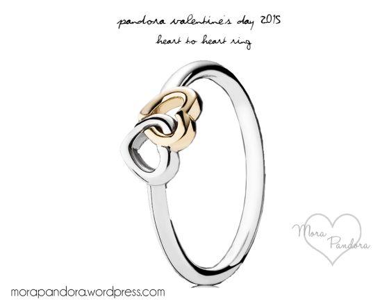 pandora Valentine's 2015 heart-to-heart ring