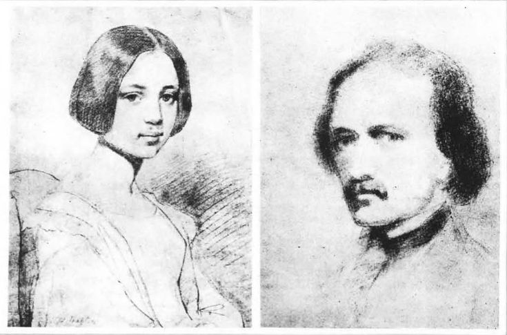 "Edgar Allan Poe, portrait of Elmira Royster and self-portrait    Edgar Allan Poe (1809–1849) tried his hand at drawing, making pencil sketches of his childhood sweetheart and eventual finacée, Elmira Rosyter, the inspiration for his poem ""Lenore."" He also designed the cover to The Stylus, a literary journal he hoped to produce but that failed to gain financial backing."