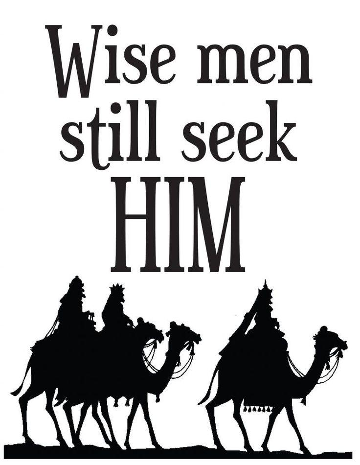 Free Printable: Wise Men Still Seek Him: