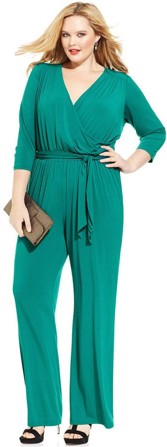 Plus Size Jumpsuit - Sale $59.99 Originally $109.00 - #plus #size #fashion