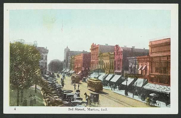 Downtown Marion Indiana Circa 1906 Photo Marion Public Library Historic Collection Marion Indiana Santa Claus Indiana Local History