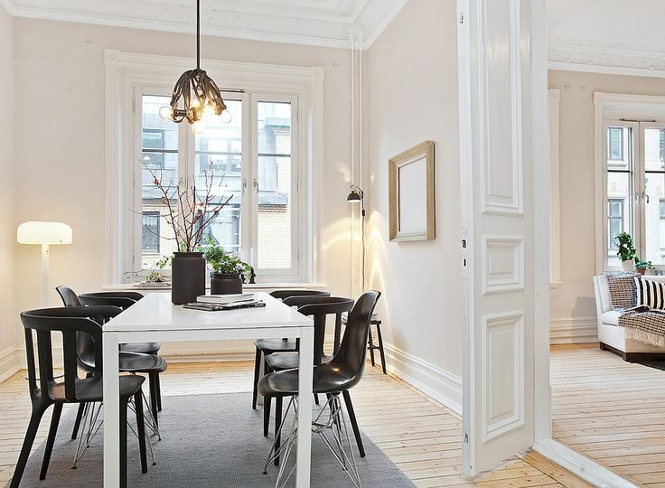Dining Room Ideas:White Dining Room Color Combine With Black Dining Chair Formal Diningroom Decor
