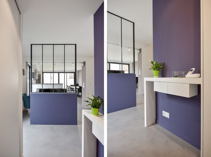 Photos de couloir entr e escaliers de style de style for Amenagement petite entree