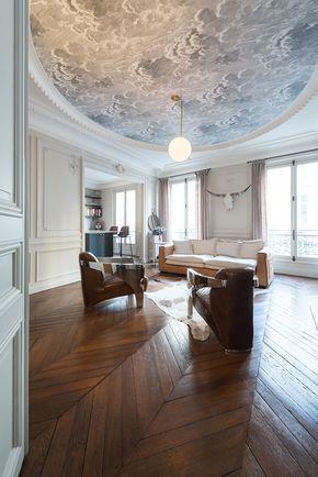 17 meilleures id es propos de papier peint au plafond. Black Bedroom Furniture Sets. Home Design Ideas