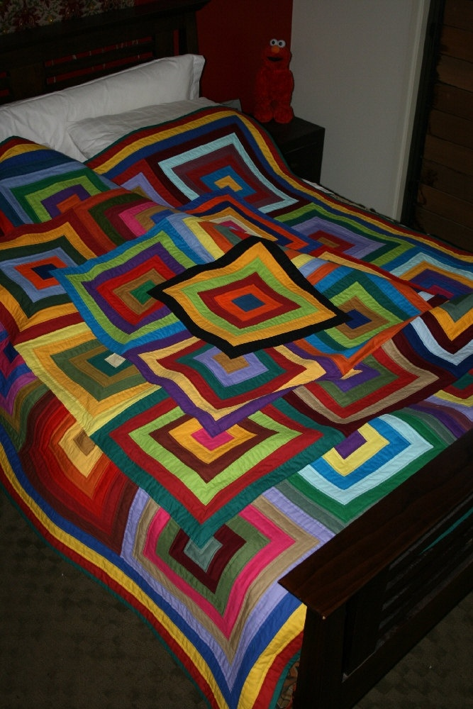free your scraps finished patchwork quilt queen size 82 inch