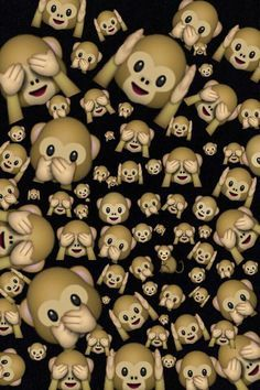emoji, monkey emoji, emoji wallpaper