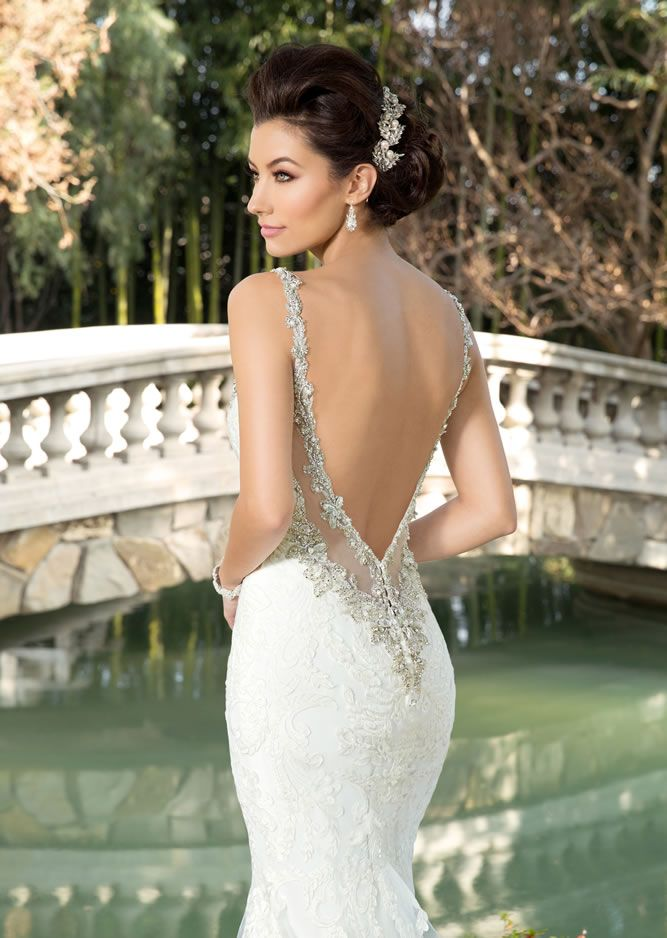 Another stunning back from the Ivoire Collection by Kitty Chen. Dress style Chelsea V1604.