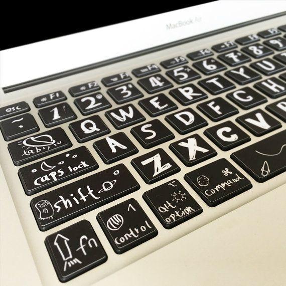 MacBook Keyborad Skin Decal  Macbook Air Pro DIY by SpikeUnion