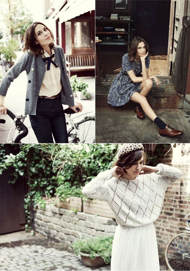I love the cardigan (again the dots :) and all the rest....: Fashion Ideas, Style, Kelly Clothing Inspiration, General Alex, Outfit, Men Shoes, Lady Socks, Alexa Chung, Alex O'Loughlin