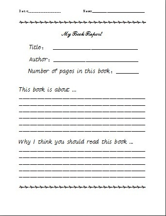 Book report for sale
