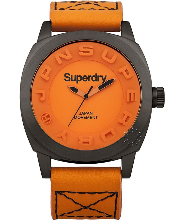 SUPERDRY Men's Orage Leather Strap Τιμή: 139€ http://www.oroloi.gr/product_info.php?products_id=37039