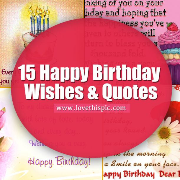 Birthday Wishes Quotes For A Special Person: 17 Best Happy Birthday Love Quotes On Pinterest