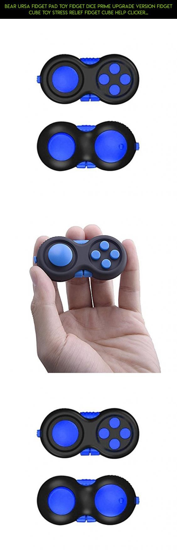 Bear Ursa Fidget Pad Toy Fidget Dice Prime Upgrade Version Fidget Cube Toy Stress Relief Fidget Cube Help Clicker Focus Mind Pressure Relief ABS Materials 6 Colors for Children and Adults (Blue) #camera #technology #parts #products #kit #fidget #relief #tech #plans #fpv #racing #drone #shopping #stress #gadgets #cube