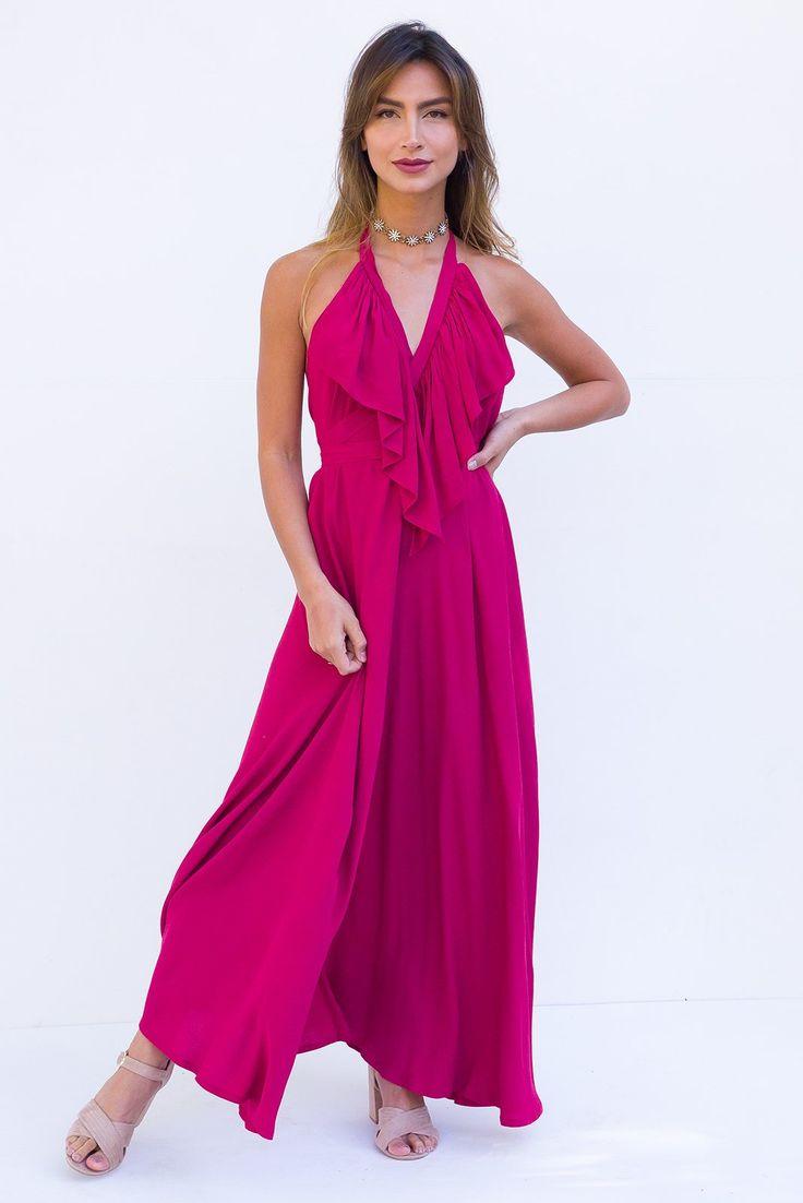 Belle Starr Maxi Dress Garnet