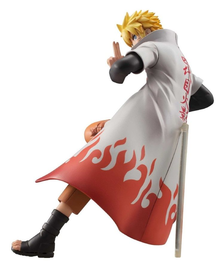 Naruto Shippuden Action Figure  - check out the delicate words on his Hokage cloak!