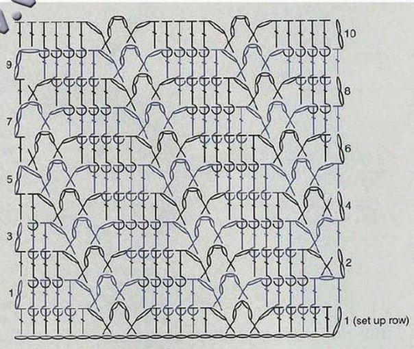 Delicadezas en crochet Gabriela: Punto para realizar este buzo de manga larga con bello estilo primaveral