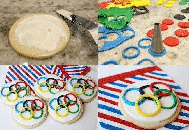 Galletas de las Olimpiadas, ideales para merendar - Recetín
