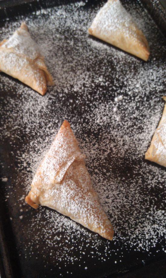 Caramel Apple Pie Triangles