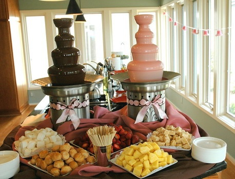 Love my chocolate fountain www.capitalchocolatefountains.com