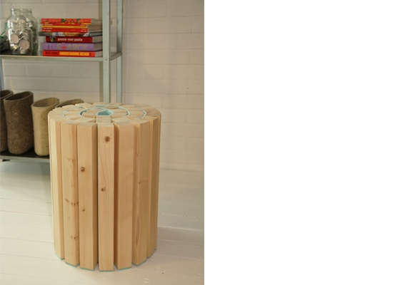 handcrafted stool made by Kuiken Design