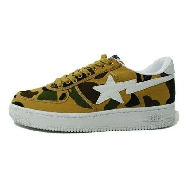 Chris Brown wearing Stussy Camo Shirt and A Bathing Ape 1st Camo Bape... ❤ liked on Polyvore featuring shoes and air force one