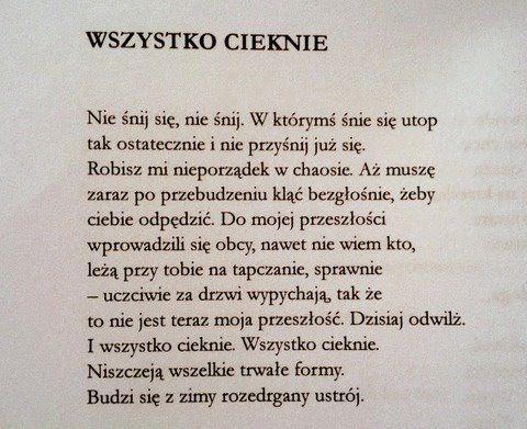 Marcin Świetlicki / Wszystko cieknie