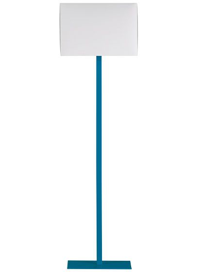 """""""CB2 John Peacock Blue powder-coated-steel lamp, $100."""" [Click-through is a slideshow of 34 """"Lights Fantastic"""" (and mostly, fantastically priced, this being a notable exception...)]"""