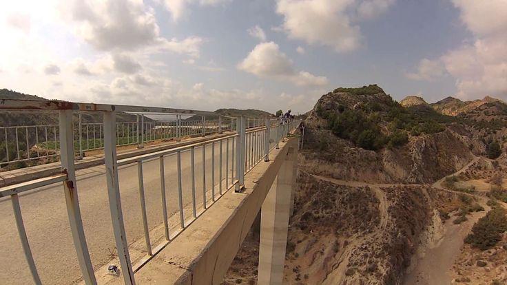 #puenting con #sirocoaventuras en la #regiondemurcia. #turismoactivo, #puenting, #gopro