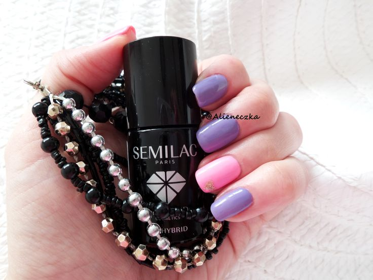 """Hybrid manicure. Bling no 04 and Semilac 131 """"Lovely Mickey"""""""