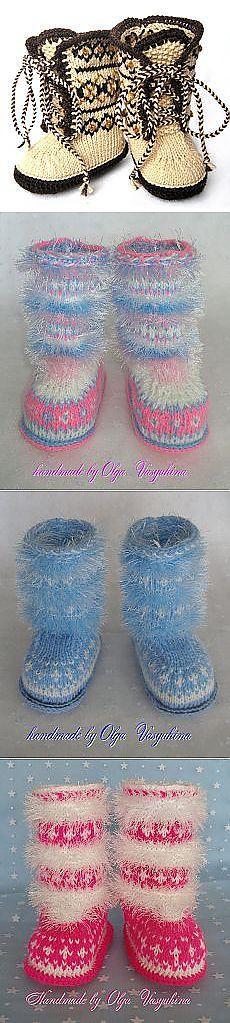 Anya Kozlovtseva: Örgü |  Postila.ru На фото пушистые сапожки-угги, связаные мной. Сапожки со шнуровкой были взяты мной за основу вязания.