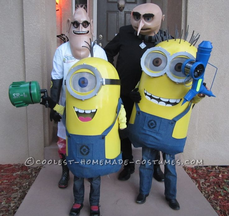 2013 halloween costume contest runner up despicable me family costume submitted by jeff from - Halloween Stores Colorado Springs