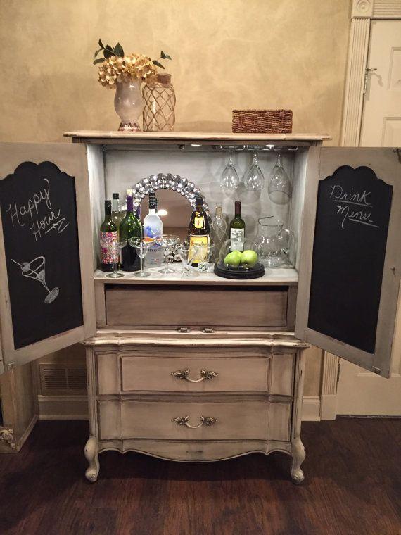 25 best ideas about armoire bar on pinterest china for Transformer une armoire en bureau