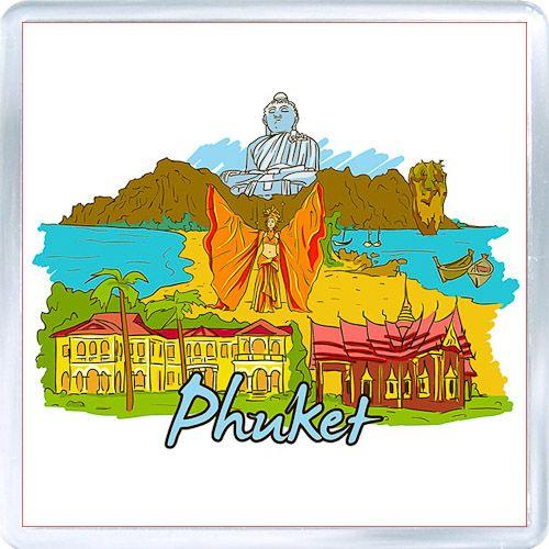Acrylic Fridge Magnet: Thailand. Phuket