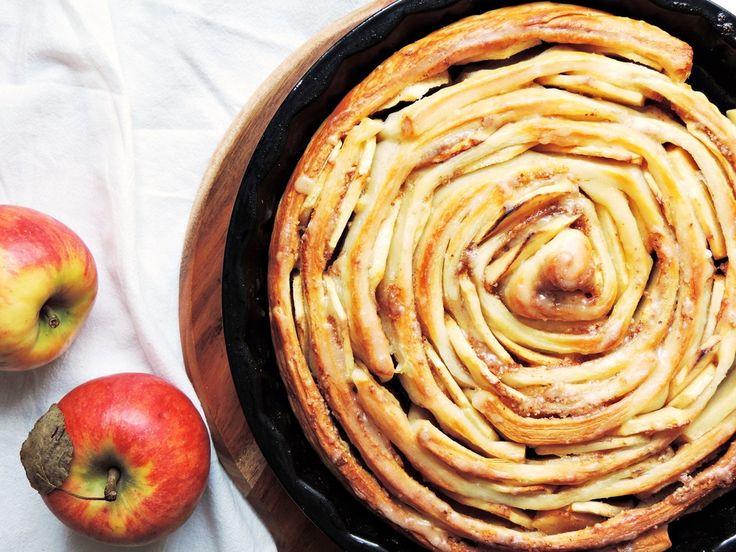 FOOD | Riesen Apfel-Schnecke mit Zimt und Mandeln – Starlights in the Kitchen