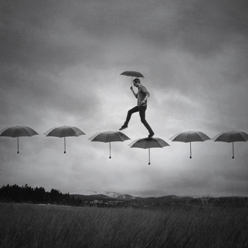 Rain Walk - Joel Robinson Selfportrait