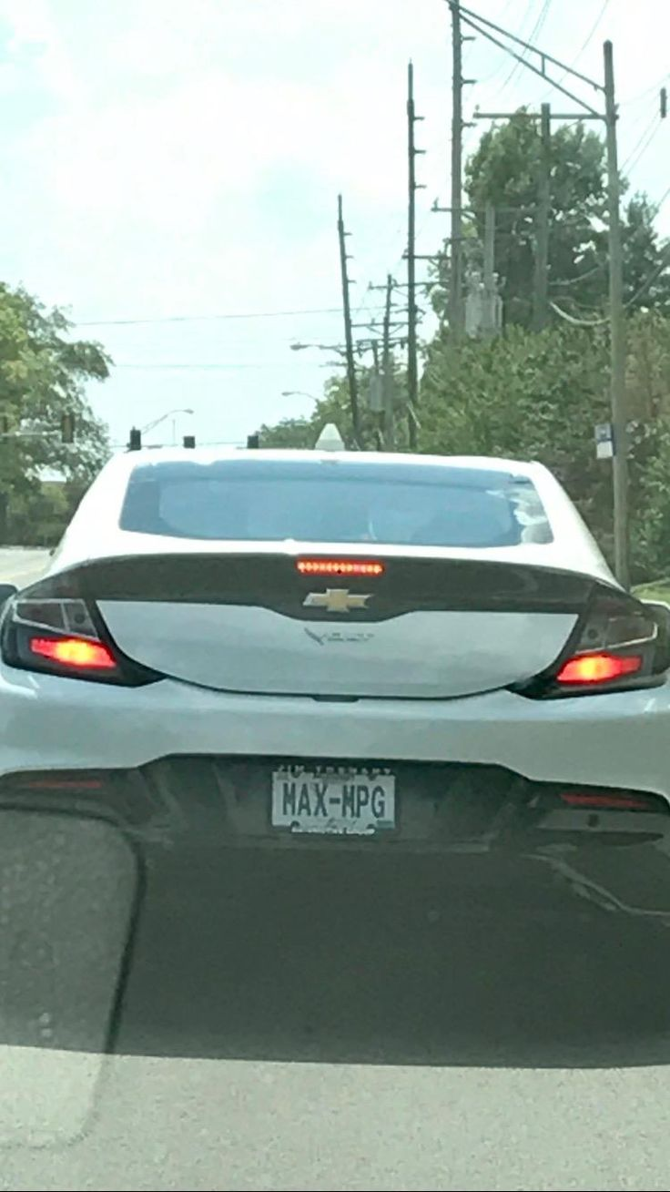 License plate checks out on Chevy Volt