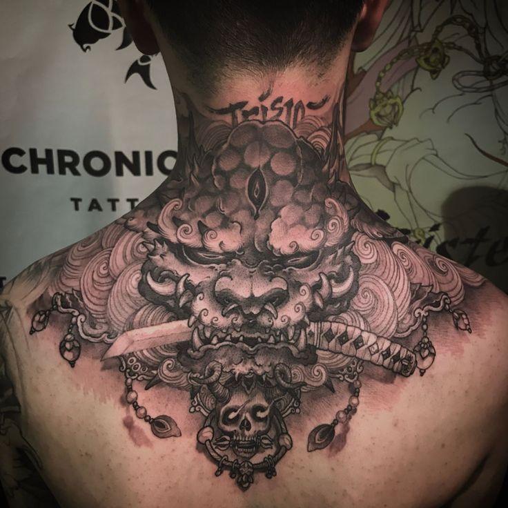 Foodog Hals Tattoo abgeschlossen Chronische Tinte Tätowierung #wearproud #workp…  – nice