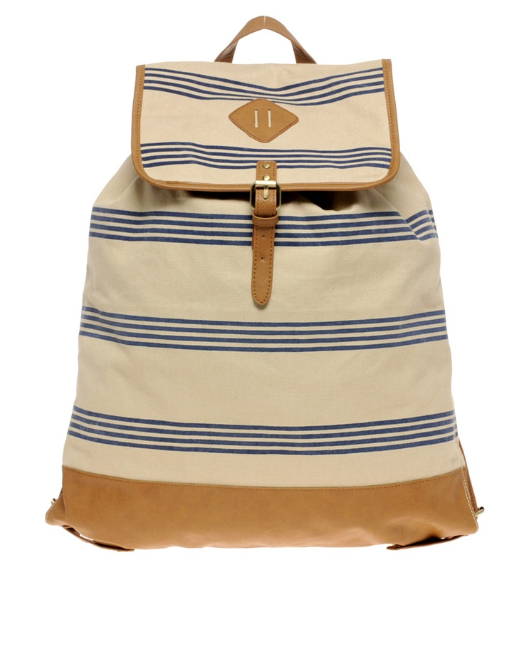 canvas backpack: Canvases Backpacks, Canvas Bags, Style, Canvas Baggy, Canvas Backpacks, Awesome Handbags, Beaches Bags, Stripes Canvas, Love Canvas