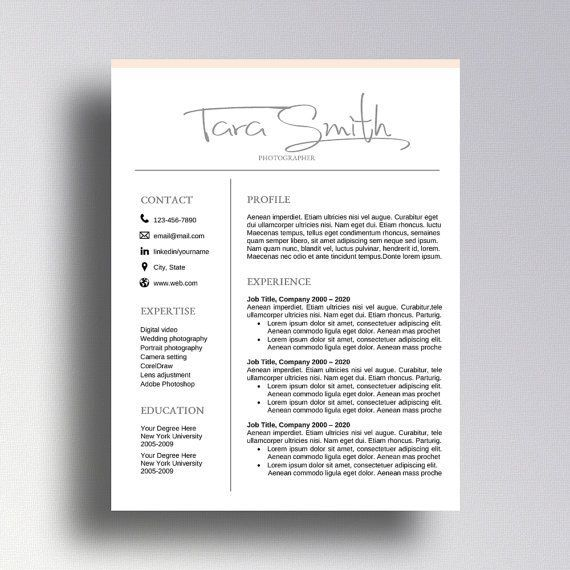 3 Clever Resume College Project Resume Template Professional Resume Template One Page Resume Template