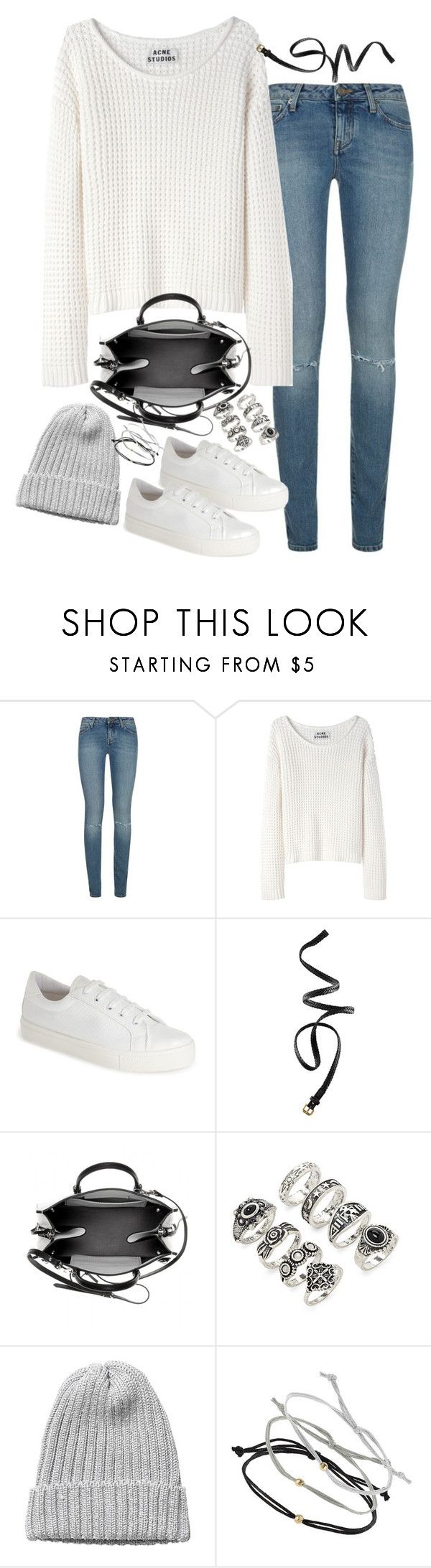 """Untitled#4096"" by fashionnfacts ❤ liked on Polyvore featuring Yves Saint Laurent, Acne Studios, Topshop, H&M, Balenciaga, Forever 21 and Monki"