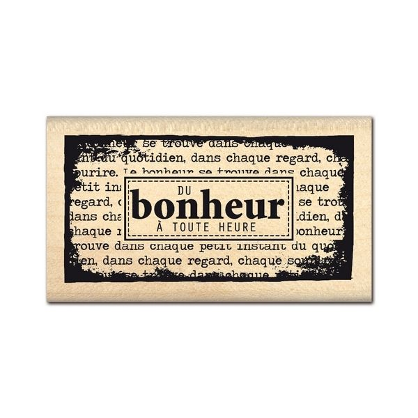 Tampon bois DU BONHEUR A TOUTE HEURE