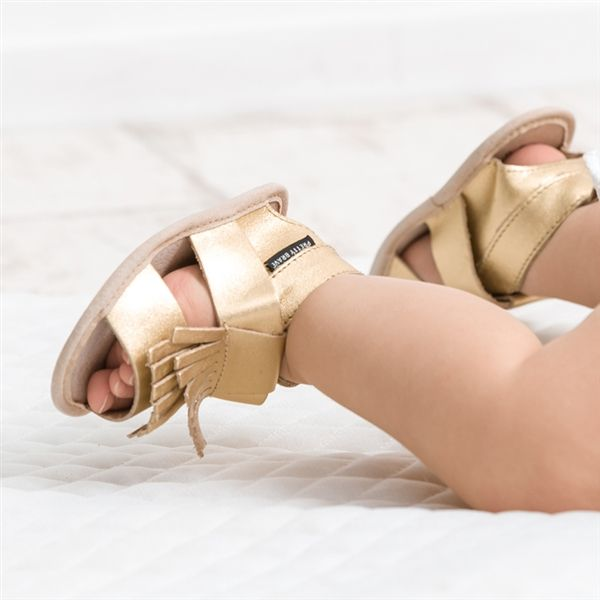 Gold fringe sandal - PRETTY BRAVE - Product Showroom