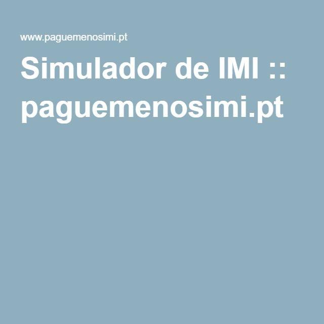 Simulador de IMI :: paguemenosimi.pt