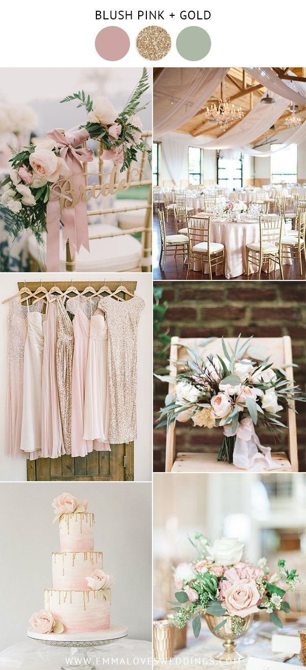 10 Prettiest Blush Pink Wedding Color Ideas For Spring And Summer Emmalovesweddings Gold Wedding Colors Wedding Color Schemes Summer Pink Wedding Colors