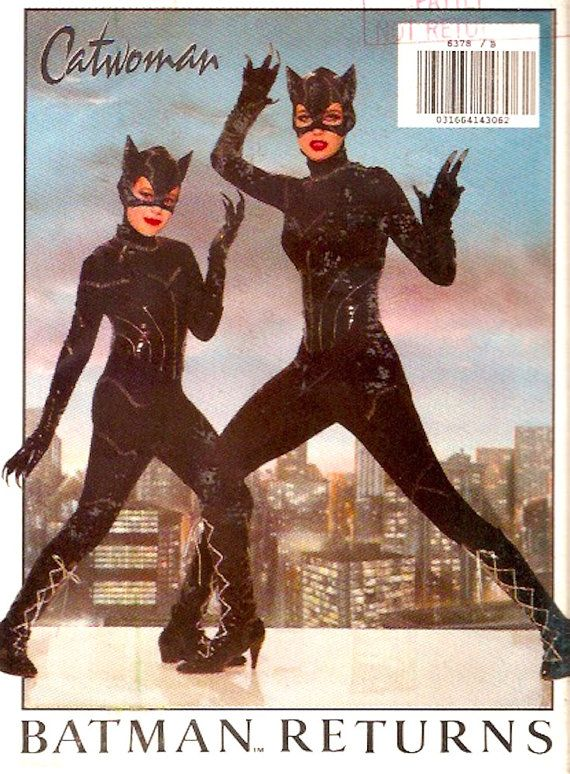 OOP Girls Catwoman Costume vintage 90s comic character by HeyChica #esty