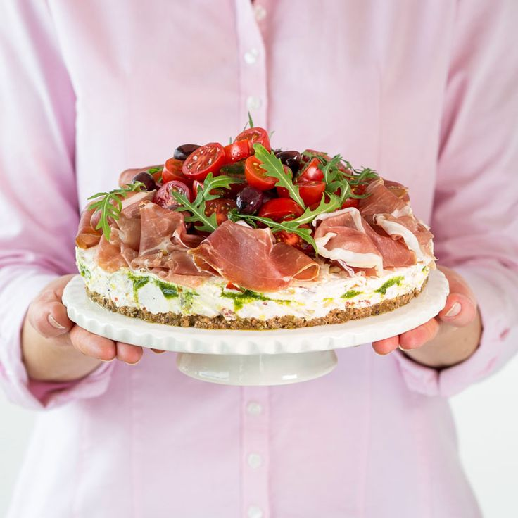 Läcker italiensk smörgåstårta